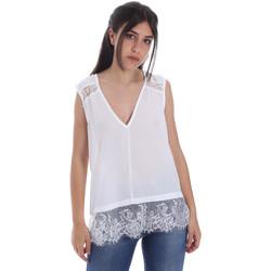 textil Dame Toppe / Bluser Gaudi 011FD45055 hvid