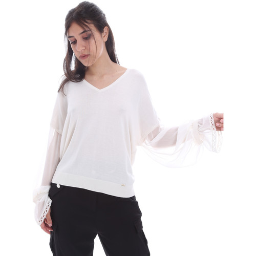 textil Dame Toppe / Bluser Gaudi 011FD53007 hvid