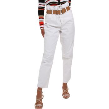 textil Dame Chinos / Gulerodsbukser Liu Jo WA0281 T6446 hvid