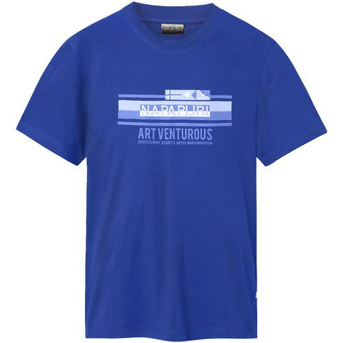 textil Herre T-shirts m. korte ærmer Napapijri NP0A4E36 Blå