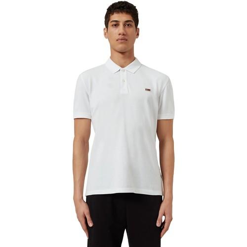 textil Herre Polo-t-shirts m. korte ærmer Napapijri NP0A4EGD hvid