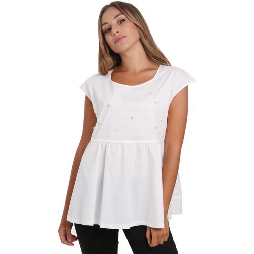 textil Dame Toppe / Bluser NeroGiardini E062761D hvid