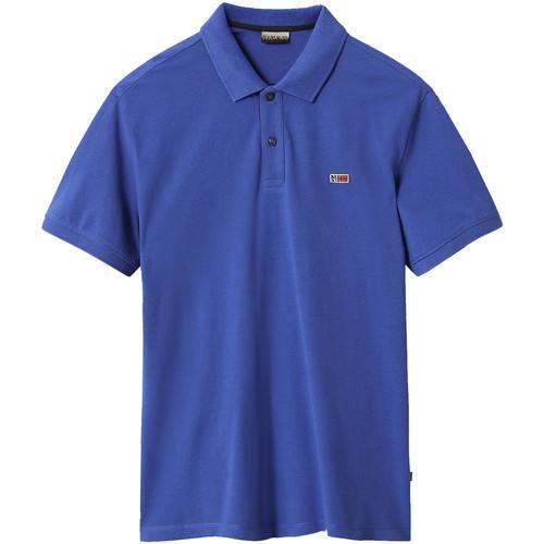 textil Herre Polo-t-shirts m. korte ærmer Napapijri NP0A4EGD Blå