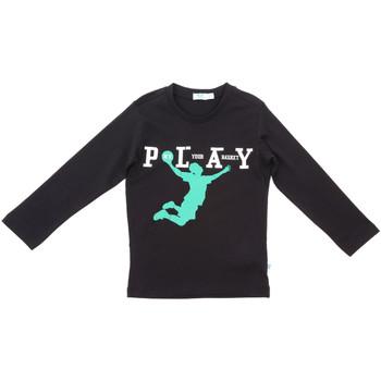 textil Børn Langærmede T-shirts Melby 70C5524 Sort