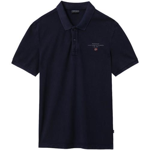 textil Herre Polo-t-shirts m. korte ærmer Napapijri NP0A4EGC Blå