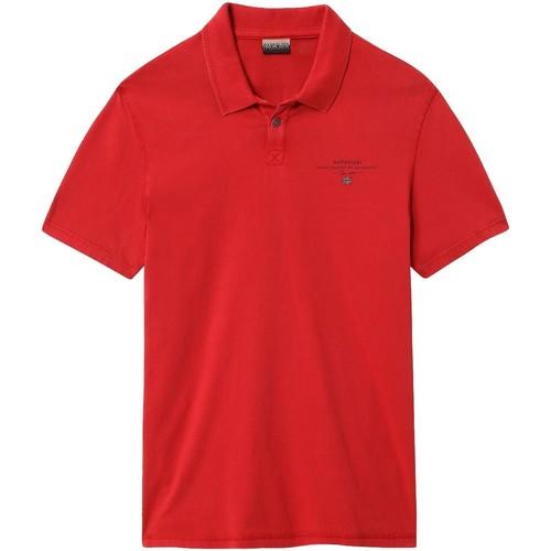 textil Herre Polo-t-shirts m. korte ærmer Napapijri NP0A4E2L Rød