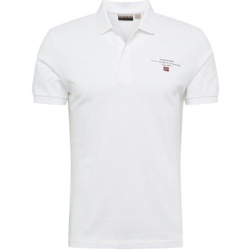 textil Herre Polo-t-shirts m. korte ærmer Napapijri NP0A4E2L hvid