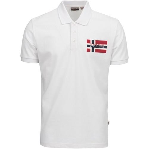 textil Herre Polo-t-shirts m. korte ærmer Napapijri NP0A4E2K hvid