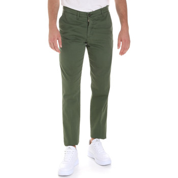 textil Herre Chinos / Gulerodsbukser Les Copains 9U3320 Grøn