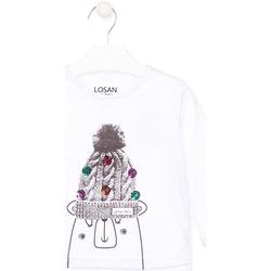 textil Børn Langærmede T-shirts Losan 026-1007AL hvid