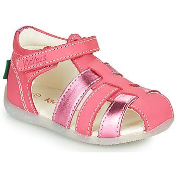 Sko Pige Sandaler Kickers BIGFLO-2 Pink