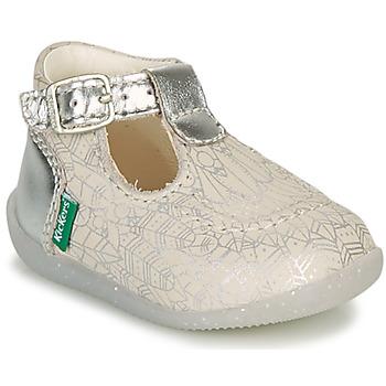 Sko Pige Ballerinaer Kickers BONBEK-2 Sølv