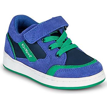 Sko Dreng Lave sneakers Kickers BISCKUIT Blå