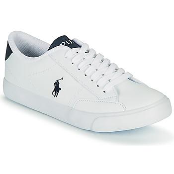 Sko Børn Lave sneakers Polo Ralph Lauren THERON IV Hvid / Marineblå