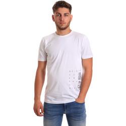 textil Herre T-shirts m. korte ærmer Antony Morato MMKS01223 FA100144 hvid