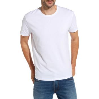 textil Herre T-shirts m. korte ærmer Wrangler W7500F hvid