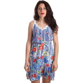 textil Dame Korte kjoler Fracomina FR19SP563 Blå
