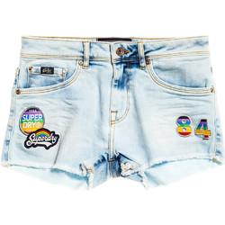 textil Dame Shorts Superdry G70000YQF5 Blå