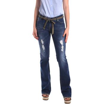 textil Dame Jeans - boyfriend Fornarina BER1I98D834CE Blå