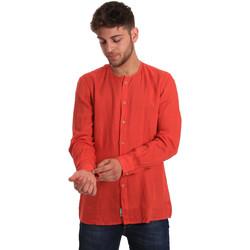 textil Herre Skjorter m. lange ærmer Gaudi 811BU45022 Rød