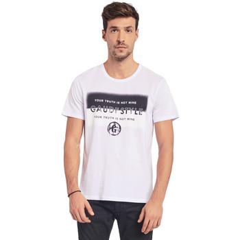 textil Herre T-shirts m. korte ærmer Gaudi 011BU64108 hvid