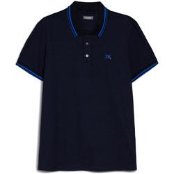 textil Herre Polo-t-shirts m. korte ærmer Nero Giardini E072370U Blå