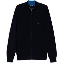 textil Herre Veste / Cardigans Nero Giardini E074560U Blå
