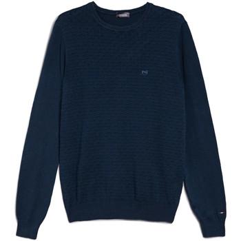 textil Herre Pullovere Nero Giardini E074600U Blå