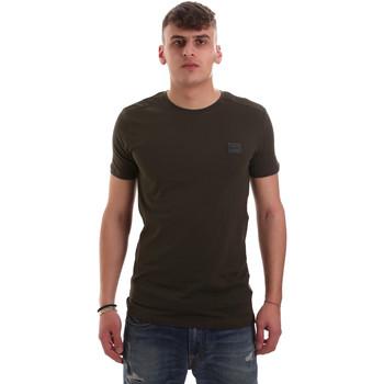textil Herre T-shirts m. korte ærmer Antony Morato MMKS01417 FA120001 Grøn