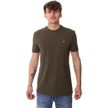 textil Herre T-shirts m. korte ærmer Antony Morato MMKS01737 FA120022 Grøn