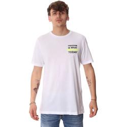 textil Herre T-shirts m. korte ærmer Antony Morato MMKS01786 FA100189 hvid