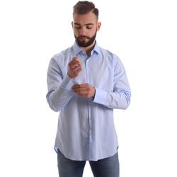 textil Herre Skjorter m. lange ærmer Gmf 962111/21 Blå