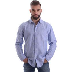 textil Herre Skjorter m. lange ærmer Gmf 962118/03 Blå