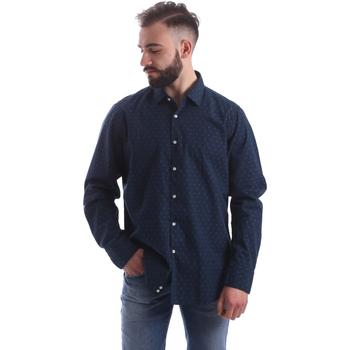 textil Herre Skjorter m. lange ærmer Gmf 962157/06 Blå