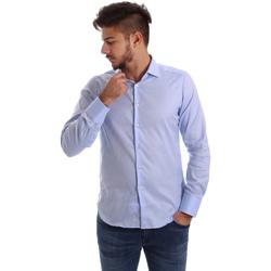 textil Herre Skjorter m. lange ærmer Gmf 962103/03 Blå