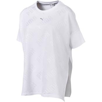 textil Dame T-shirts m. korte ærmer Puma 575090 hvid