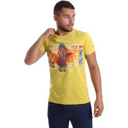 textil Herre T-shirts m. korte ærmer Navigare N631017 Gul