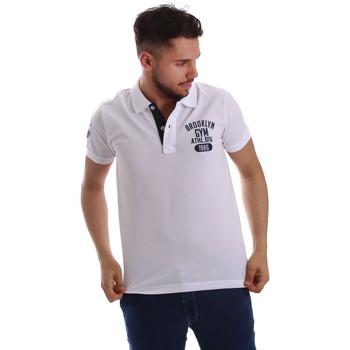 textil Herre Polo-t-shirts m. korte ærmer Key Up 255QG 0001 hvid