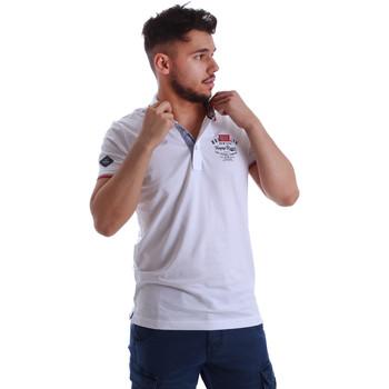 textil Herre Polo-t-shirts m. korte ærmer Key Up 262RG 0001 hvid