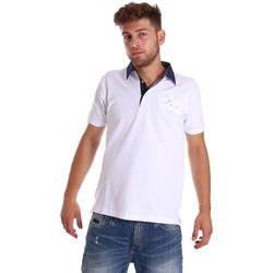 textil Herre Polo-t-shirts m. korte ærmer Bradano 000115 hvid