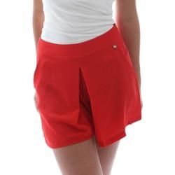 textil Dame Shorts Fornarina BER1L17C98176 Rød