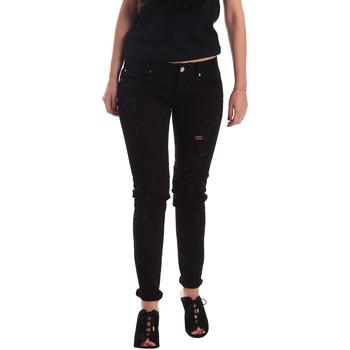 textil Dame Jeans - boyfriend Gaudi 73BD24205 Sort