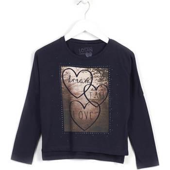 textil Pige Sweatshirts Losan 624 1008AB Blå