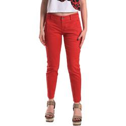 textil Dame Chinos / Gulerodsbukser Fornarina BE171L74G29176 Rød
