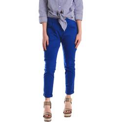 textil Dame Chinos / Gulerodsbukser Fornarina BE171L75G29112 Blå