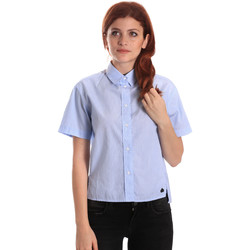 textil Dame Skjorter / Skjortebluser Fornarina BE174567CA1218 Blå