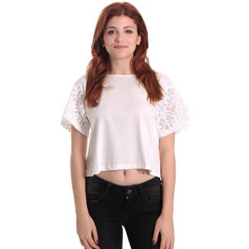 textil Dame Toppe / Bluser Fornarina BE175J88JG1309 hvid