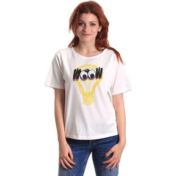 textil Dame T-shirts m. korte ærmer Fornarina BE175L27JG1608 hvid