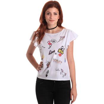 textil Dame T-shirts m. korte ærmer Fornarina BE175L40JG0709 hvid