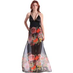 textil Dame Lange kjoler Fornarina BE178D67CA0700 Sort